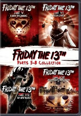 Friday the 13th: Parts 5-8 (DVD,2018)