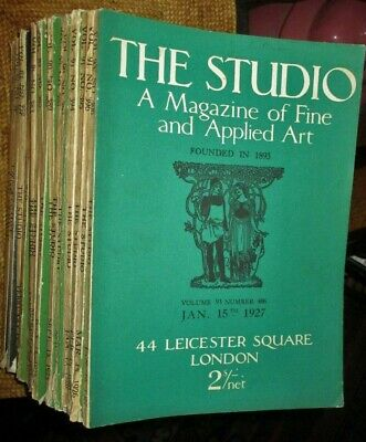 25 ISSUES-THE STUDIO-The Magazine of Fine and Applied Art-LONDON-1920s