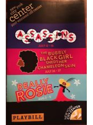 Really Rosie City Center Playbill +Full Color Broadway Brochures And Flyers
