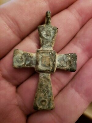 Byzantine cross pendant 400- 800 AD huge