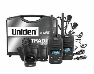 Uniden UH850S-2TP TWIN TRADIE PACK UHF WATERPROOF - Brand New 3 Year Warranty