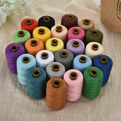 24 Spools of 1000 Yards Sewing Threads for Quilting Upholstery Beading Drapery