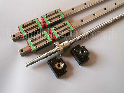 HGR20-1300mm Linear Guideway 2Rail+ RM1605-1300mm ballscrew+BK/BF12 end bearing