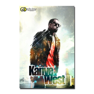 Kanye West Music Star Art Silk Poster Print 13x20 20x30 inches