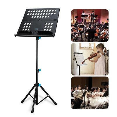 Heavy Duty Sheet Music Stand Holder Folding Stage 3-Level Height Portable C6B8