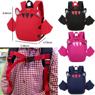 Baby Toddler Kids Cartoon Wing Safety Harness Strap Bag Backpack With Reins New
