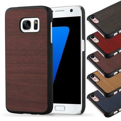 Hard Case for Samsung Galaxy Protection Cover Vintage Wooden Bumper TPU