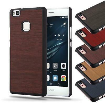 Hard Case for Huawei Protection Cover Vintage Wooden Bumper TPU