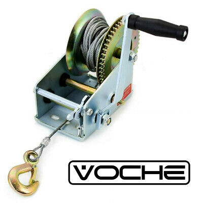 VOCHE® 1200LB MANUAL HAND POWERED WINCH BOAT MARINE CAR TRAILER WITH 20m CABLE