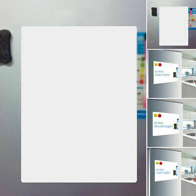 A3 A4 Fridge Magnetic Whiteboard Memo Reminder Magnet White Board Home Office