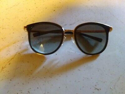 a924d752be Michael Kors MK 1010 Adrianna I 1100T3 Black Gold w Grey Gradient Sunglasses