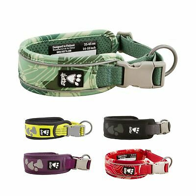 Hurtta Soft Padded Hardwearing Durable Adjustable Collar for Dog Puppy XS to L