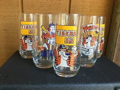 Lots Of 6 Tigers 1988 Burger King Drinking Glasses