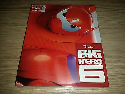 Big Hero 6 Steelbook (Blu-ray 3D/2D) Disney Hollow Slip Blufans #455/1000