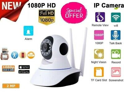 Telecamera Ip Cam Hd 1080P Wireless Wi-Fi Led 2 Antenne 2Mp Megap Ir Motorizza