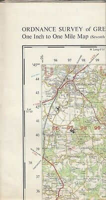 Ordnance Survey Map One Inch Military (GSGS) Sheet 182 Brighton and Worthing