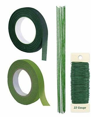 Premium Quality 1/2 Inch Floral Tape, Self-Sealing,  Green-12 Pieces of 18 Inch