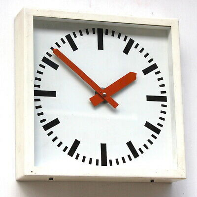 WEST GERMAN1960s Midcentury Vintage Retro Industrial Factory Office Wall Clock