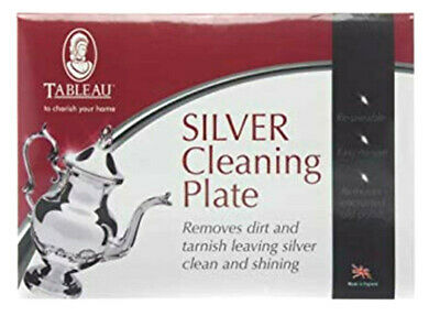 Silver Cleaning Plate Removes Dirt & Tarnish Leaving Silver Clean Tableau