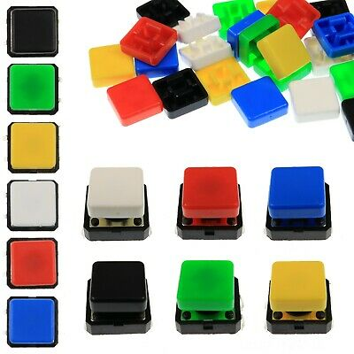 A14 Tactile Cap & Switch - Momentary Button - Square Flat Keycap - 6 Colours
