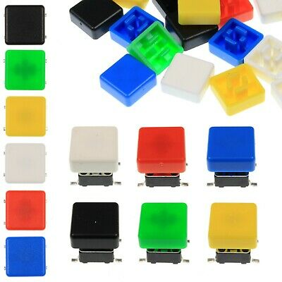 A66 Tactile Cap & Switch - Momentary Button - Square Flat Keycap - 6 Colours