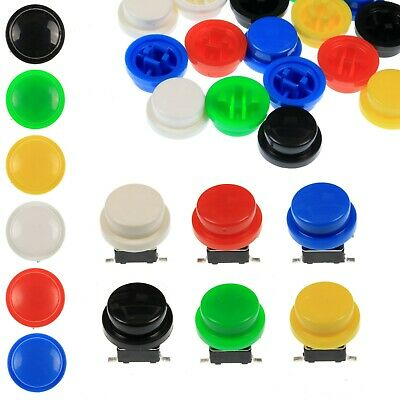 A95 Tactile Cap & Switch - Momentary Push Button - Round Domed Keycap -6 Colours