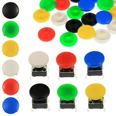 A29 Tactile Cap & Switch - Momentary Push Button - Round Pan Keycap - 6 Colours