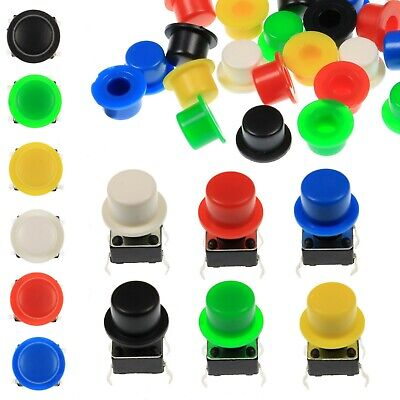A101 Tactile Cap & Switch - Momentary Push Button - Round Keycap - 6 Colours