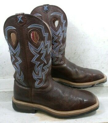 4b369fc5142 TWISTED X MENS Lite Brown Safety Cowboy Western Work Boots MLCs003 Shoes sz  11 M