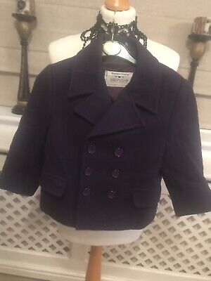 Fab Girls Purple Distinctive Lined 100% Pure New Wool Coat By Next Age 4 Years