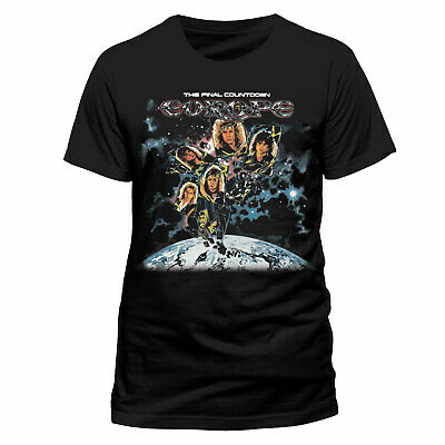 Official Europe T Shirt The Final Countdown Glam Metal S M XL