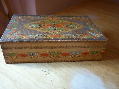Beautiful 60 years old wooden box 10 x 6.5 by 3 inches great condition