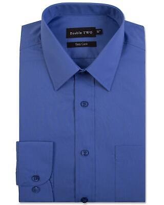 Double Two Mens Classic Cotton Blend Long Sleeved Shirt (3300-2)