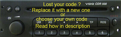 CODE FOR CDR 500 VDO, REPLACE THE CODE or YOUR OWN CODE, SEE DESCRIPTION HOW TO