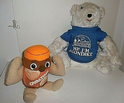 Vintage Klondike Bear and Ovaltine Teddy Promotional Plush Products