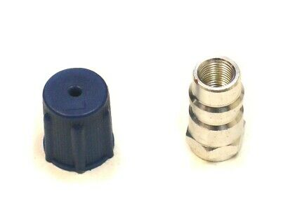 R12 to R134a Air Con Regas Gas Recharge Adaptor Screw On Fitting With Dust Cap
