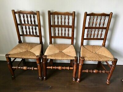 18thC Spindleback chairs X 6