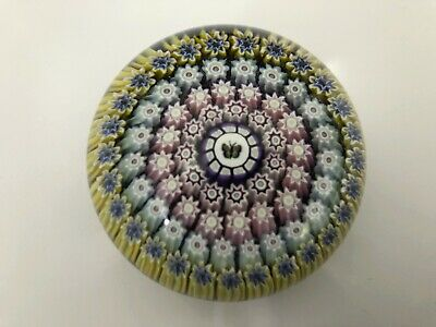 Perthshire Butterfly Silhouette Millefiori Art Glass Paperweight