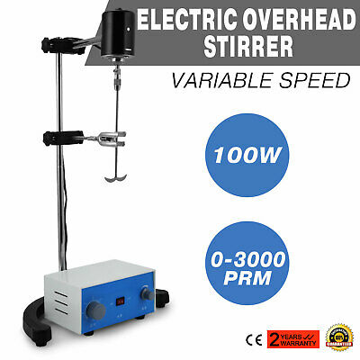 Electric overhead stirrer mixer height adjustble easy operation 100w 1-300rpm