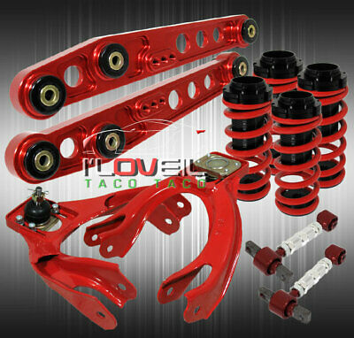 Scaled Lowering Coilover Springs+ F/R Camber + Lower Control Arm Suspension Kit