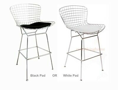Pleasant Modern Bertoia Counter Stool With Seat Pad Wire Counter Theyellowbook Wood Chair Design Ideas Theyellowbookinfo