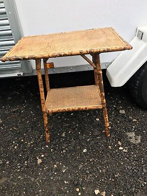 Antique Vintage Bamboo Side Table, Oriental, Victorian Circa 1890  YORK ??