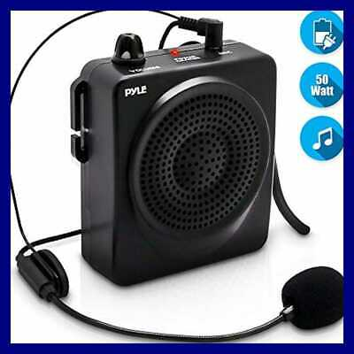 Portable PA Speaker Voice Amplifier Built In Rechargeable Battery W/ Headset Mic