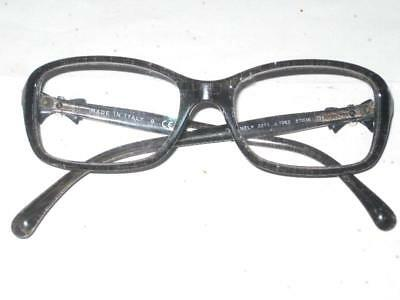 f465040839a33  460 AUTHENTIC CHANEL GRAY GLITTER TWEED BOW EYEGLASSES 3211 c.1263 51016  135