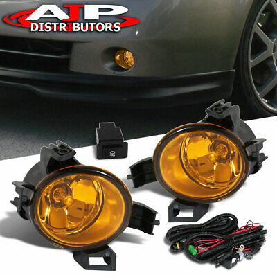 Fits 2005-2006 Nissan Altima Upgrade Yellow Lens Fog Lights Switch Harness Set