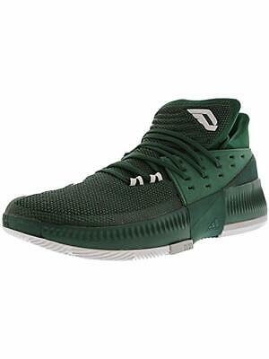 premium selection 93fcc 33a7a New Adidas Dame 3 Mens 9.5 Basketball Shoes Green White BY3194