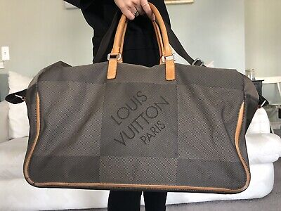 9bc96ed7262f LOUIS VUITTON Souverain Damier Geant Terre Boston Bag M93015 Authentic  5269884