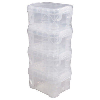 "Storage Studios Super Stacker Pixie Boxes 4/Pkg-2""X2.5""X3.4"" Clear"