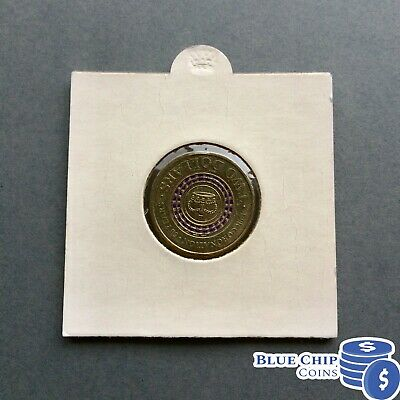 2013 UNC $2 PURPLE STRIPED CORONATION COIN IN 2x2 COIN HOLDER FROM ROLL