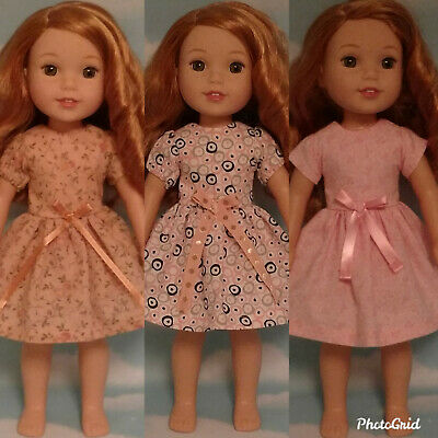 """14.5"""" Doll Dress fits 14.5 American Girl Wellie Wishers Doll Clothes 204abc"""